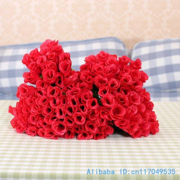 BAIXA QUALIDADE 100 tronco Falso Artificial Rosa vermelha de flor de seda partido Home Decoração F209(China (Mainland))