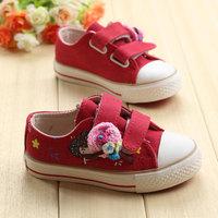 2014 new arrival Girls shoes child canvas shoes  princess shoes wear-resistant breathable canvas shoes children sneakers