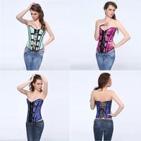 Sexy purple dragon print boned lace up corset bustier showgirl lingerie factory supplier Size S,M,L,XL