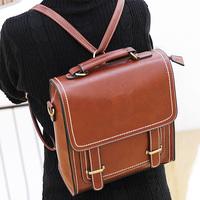 Preppy style vintage messenger bag handbag messenger  school bag