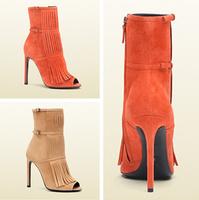New 2014 Women Fashion elegant Tassel pumps Women sexy high heel pumps High Quality Summer peep toe dress shoes