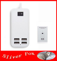 New US Plug 15W USB Desktop Charger AC Power Adapter with 1.5m Line 4 Port USB HUB for Mobile Phone, MP3,Tablet PC