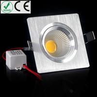 2pcs Free shipping 5W LED grille lamp Lattice lighting AC85~265V kitchen market shop lamp soft white