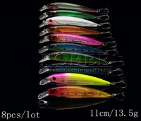 Fishing Bait 11CM/13.4G,0.6-1.8M,Minnow Artificial Bait Style Laser Minnow Seawater Fishing Lures,4pcs/lot Fishing Tackle
