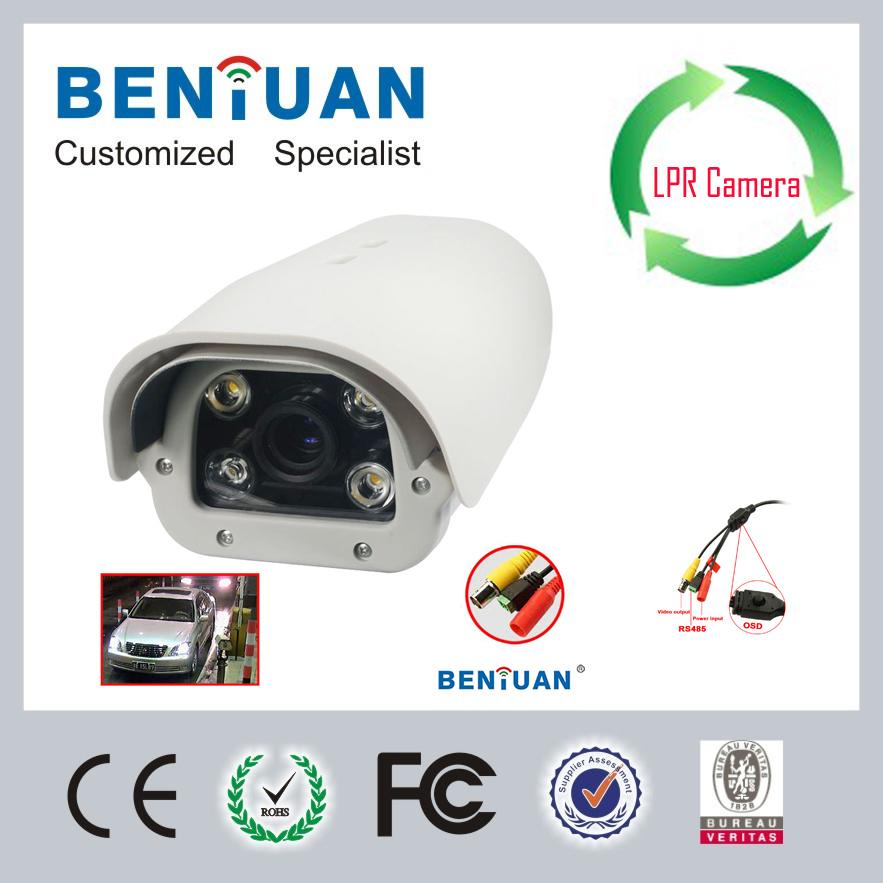 8 polegadas 700 tvl lente 2.8mm a 12mm estacionamento analógico captura placa de licença câmera com 4 pcs quentes amarelo leds dot matrix(China (Mainland))