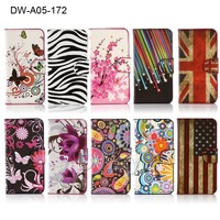 Flower Butterfly PU Leather Book Flip Cover For Nokia Lumia 630 Stand Wallet With Card Slots Free Shipping 1PC Lumia 630 Case