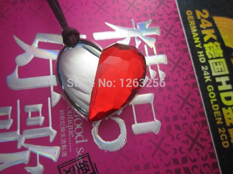 Genuine Capacity USB Flash Drive, red Heart Pen Driver, Gift USB Flash Disk, Jewelry USB flash drive memory card(China (Mainland))