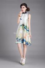popular sleeveless silk dress