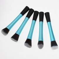 1 PC Blue Concealer Brushes Dense Powder Blush Brush Cosmetic Makeup Tool Metal Handle Free Shipping