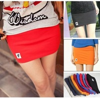 2014 New arrival Women's Skirts fashion casual cat design Elastic Slim A-Line Mini Skirts Short 8 Colors
