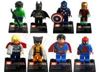 Super Heroes The Avengers 240pcs/lot Iron Man Hulk Batman Wolverine Thor Building Blocks Sets Minifigure Bricks Toys