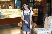 Free shipping suspender skirt   white point