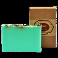 Free shipping corn mint essential oil handmade soap 110g cleasing bath cool refreshing OEM handmade soap wholesale