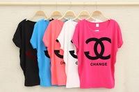 2014 new fashion Women's Loose Batwing shirt apparel women short sleeve t-shirts blouses & shirts free shipping