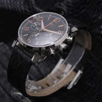 Automatic Quartz Wrist watches multifunctional men watches black watches