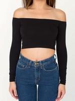 Yomsong 2014 New Fashion Women's Slash Neck Crop Top Sexy Slim Top