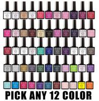 Pick Any 12 in New 73 Color MSKEIKO Soak-off UV Led Gel Polish SHELLAC Nail Art 10ml