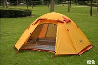 Naturehike P3 high quality Double layer 3 people  pole out door camping tent orange green grey Outdoor awning