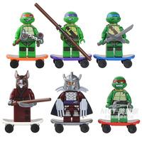 Teenage Mutant Ninja Turtles Minifigure 60pcs/lot Building Blocks Sets Figure DIY Bricks Toys For Children