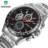 Watches men luxury brand original WEIDE fashion sports watches quartz LED diving 30 meters water resistant watch