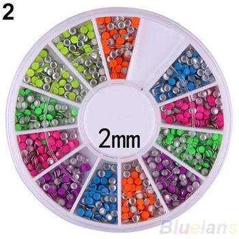 6 цветов 2 - 3 мм неон заклепки круглый металлический стержня горный хрусталь мода ...