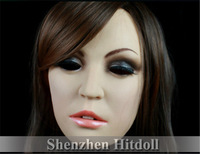 [SH-6] Top quality masquerade masks silicone female mask halloween party masks free shipping