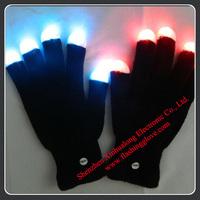 Wholesale Nylon LED Light-up Black Glove With Free Shipping
