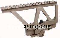optical sight Quick Detach AK Railed Scope Mount Picatinny Side Rail Mounting system Matte for AK-47 AK-74 tan