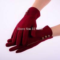 Fashion Ladies Gloves wool women gloves winter women gloves