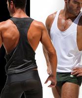 any 1pcs mens vest Tank top for man waistcoat sport v neck slim tank tops summer outdoors new gay wear wholesale brand shirts