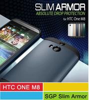 M8 Slim Armor Case,A+ Quality SPIGEN SGP Slim Armor Case For HTC ONE 2 M8 With Retail Packge 13 Color 50pcs/l In Stock