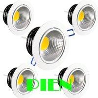 LED ceiling lamp cob recessed 3w 5w 7w 9w 12w 15w panel down light high power warm white CE&ROHS 100V-260V by DHL 50pcs