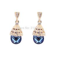 Fashion drop gem elegant summer earrings female all-match long design drop earring European popular accessories