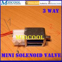 3 way Plastic Micro Solenoid valve 2mm Lead wring type 6V DC