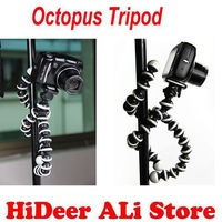 10 pcs/lot New Mini Octopus Flexible Tripod Bracket Stands for Digital Camera  DV Free Shipping