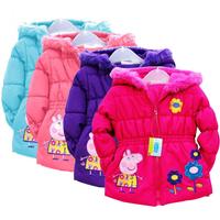 New 2014  peppa pig coats for children, children outerwear & coats, girls parkas Free shipping