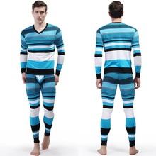 Free Shipping 2 Piece Top and Bottom Thermal Long Johns Set/Men's Undershirt Cotton V-Neck Shirts Long Johns TZ2013(China (Mainland))