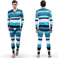 Free Shipping 2 Piece Top and Bottom Thermal Long Johns Set/Men's Undershirt Cotton V-Neck Shirts Long Johns TZ2013