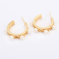 14 new arrival fashionable Stud earring elegant popular pearl earring all-match earring accessories European hot selling design