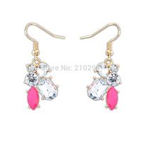 New arrival Summer earrings fashion sweet fresh gem earrings popular earring accessories the bride accessories