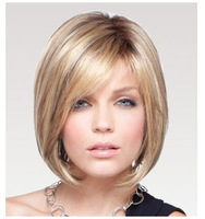 Fashion Brown wig free shipping with free wig cap daily wear wig