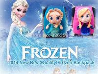 Free shipping New Frozen bag/baby cartoon soft plush Doll Backpack/Snow Queen Elsa Anna school bag