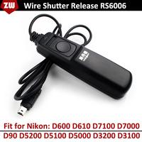 2014 New RS6006 Digital Wire Remote Controller Shutter Release for Nikon D600 D610 D7100 D7000 D90 D5200 D5100 D5000 D3200 D3100