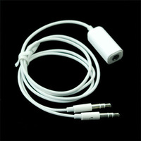 3.5mm Female to Dual 3.5 mm Male Y  Splitter F-M Audio Cable For PC White