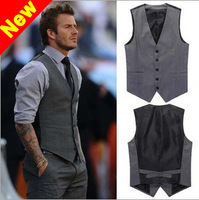 New arrival Beckham vest men's vest blazer & suits tank tops brand formal waistcoat slim fit british style menswear man vests