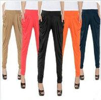 High Quality Pants & Capris New 2014 Fashion Solid Color High Waist Harem Pants Plus Size 10 Colors Trousers