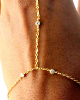 Charm Crystal Hand Chain Hand Harness Slave Bracelet for Women