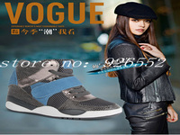Free shipping 2014 women high platform elevator platform shoes casual shoes breathable shoes wedges