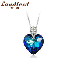 2014 New Arrival Top Quality free shipping wholesale Genuine 100 sterling 925 silver heart of ocean