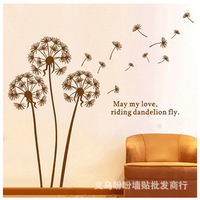 Free shipping dandelion decorative wall stickers wall stickers decorative transparent 3D decorative stickers LD695